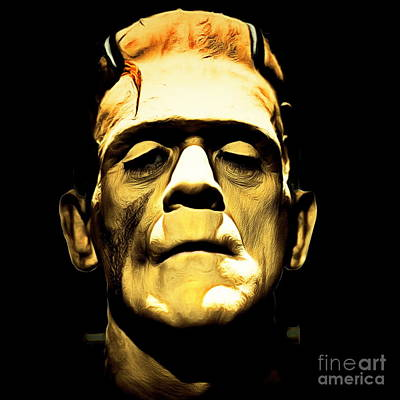 Frankenstein Digital Art - Frankenstein 20140921brunaille Square by Wingsdomain Art and Photography