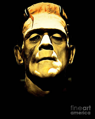 Frankenstein Digital Art - Frankenstein 20140921brunaille by Wingsdomain Art and Photography