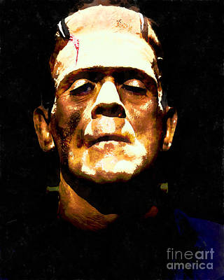 Frankenstein Digital Art - Frankenstein 20140921wc V1 by Wingsdomain Art and Photography