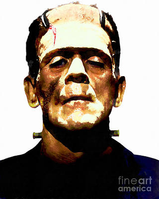 Frankenstein Digital Art - Frankenstein 20140921wc V2 by Wingsdomain Art and Photography