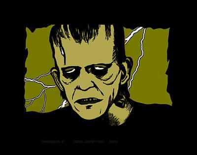 Universal Monsters Mixed Media - Frankenstein 31' by Christopher Korte
