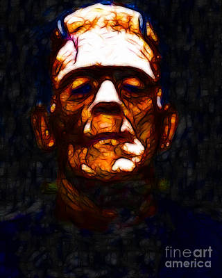 Frankenstein Digital Art - Frankenstein - Abstract by Wingsdomain Art and Photography