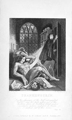 Frankenstein And His Creature Art Print