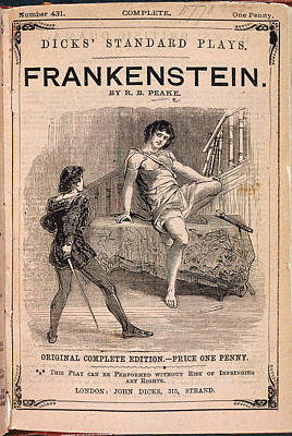 Personalities Photograph - Frankenstein by British Library