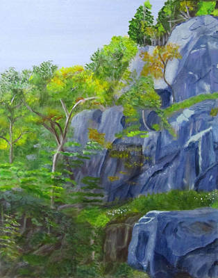 Painting - Frankenstein Cliffs by Linda Feinberg