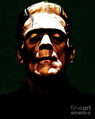 Frankenstein - Dark Art Print by Wingsdomain Art and Photography
