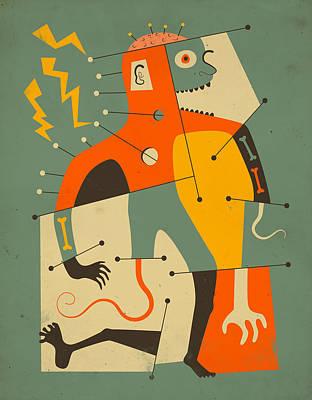 Abstraction Digital Art - Frankenstein by Jazzberry Blue