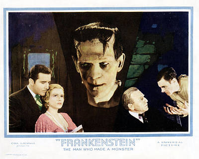 Frankenstein  Art Print by Silver Screen