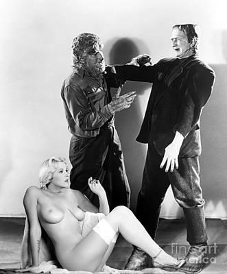 Frankenstein Werewolf Fantasy Nude Art Print by Jorge Fernandez