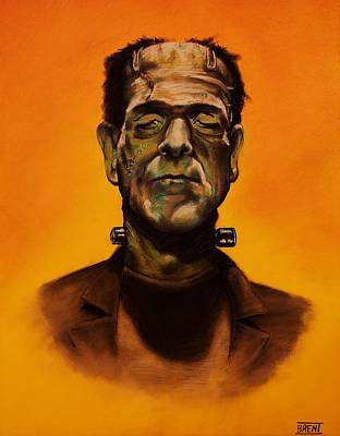 Drawing - Frankenstein's Monster by Brent Andrew Doty