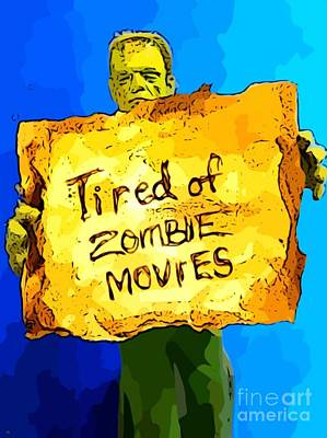 Halifax Artist John Malone Painting - Frankenstein's Monster Turns Activist by John Malone
