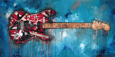Acoustic Guitar Painting - Frankenstrat by Sean Parnell