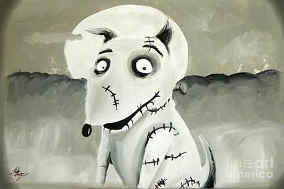 Painting - Frankenweenie by Marisela Mungia