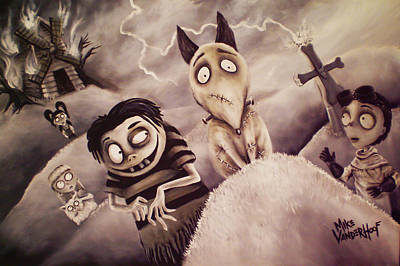 Tim Painting - Frankenweenie by Mike Vanderhoof