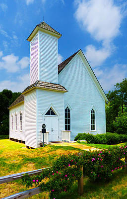 Frankford Church In Spring Art Print by Robert J Sadler