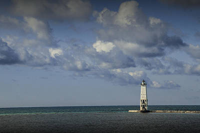 Photograph - Frankfort Lighthouse On Lake Michigan by Randall Nyhof