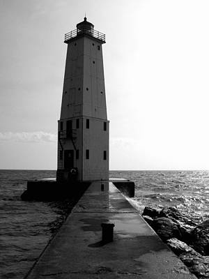 Frankfort Michigan Lighthouse Ll Art Print by Michelle Calkins
