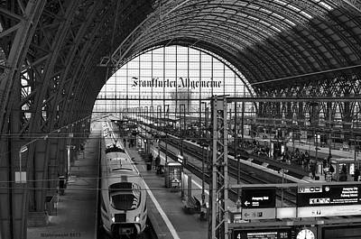 Photograph - Frankfurt Bahnhof - Train Station by Miguel Winterpacht