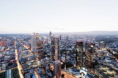 Financial District Photograph - Frankfurt Banking District At Dusk by Raimund Koch