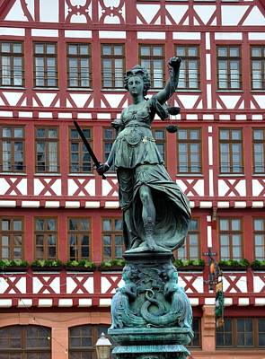 Photograph - Frankfurt Fountain Of Justice by Steven Richman