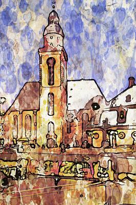 Old Town Digital Art - Frankfurt Germany Central Square 1 by Yury Malkov