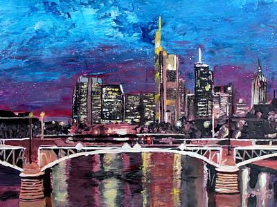 Frankfurt Main Germany - Mainhattan Skyline Art Print by M Bleichner