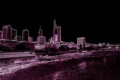 Frankfurt Purple Art Print by Adam  S
