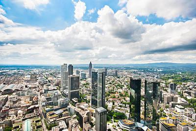 Germany Photograph - Frankfurt Skyline Panorama by JR Photography