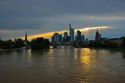 Frankfurt Sunset Art Print by Steven Richman