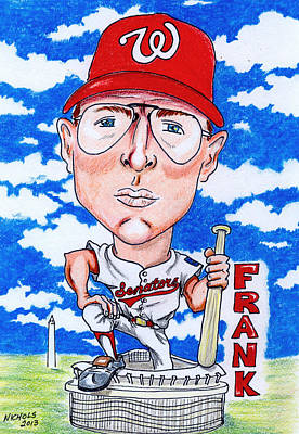 Nationals Baseball Drawing - Frank_howard by Paul Nichols