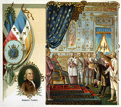 Photograph - Franklin At Versailles by Granger