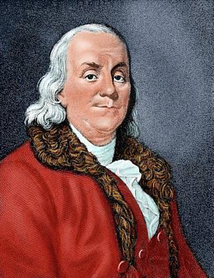 Benjamin Franklin Photograph - Franklin, Benjamin (1706-1790 by Prisma Archivo