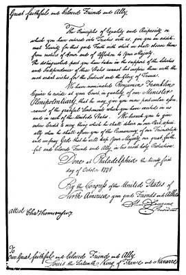 Ben Franklin Painting - Franklin Credentials, 1778 by Granger