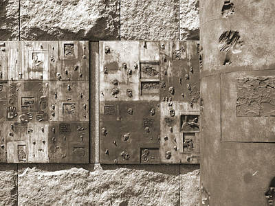 Antique Maps - Franklin Delano Roosevelt Memorial - Bits and Pieces 2 by Mike McGlothlen
