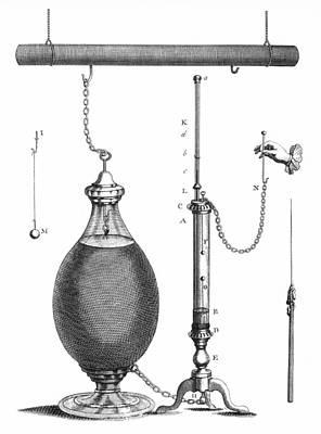 Franklin: Electricity Art Print by Granger