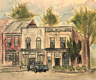 Franklin Tennessee Painting - Franklin Facelift by Tim Ross