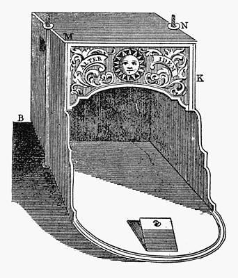 Franklin: Fireplace, 1745 Print by Granger