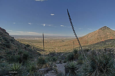 Photograph - Franklin Mountains Landscape 4 by Allen Sheffield