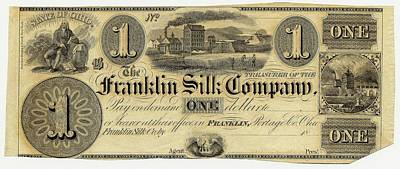 Franklin Photograph - Franklin Silk Company Bank Note by American Philosophical Society