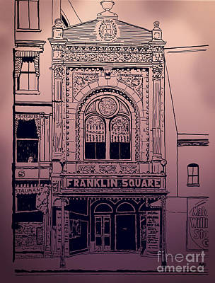 Mixed Media - Franklin Square Theatre by Megan Dirsa-DuBois