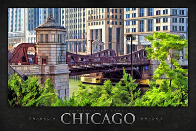 Chicago Painting - Franklin Street Bridge Poster by Christopher Arndt