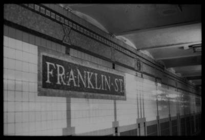 Nyc Subway Mosaic Photograph - Franklin Street Stop by Becky Kozlen