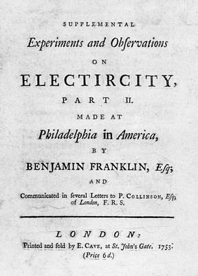 Book Title Painting - Franklin Title Page, 1753 by Granger