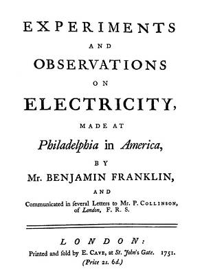 Ben Franklin Painting - Franklin Title-page by Granger