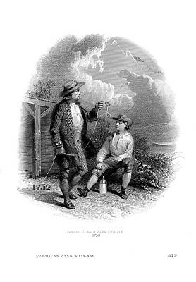 Franklin's Kite Experiment Art Print