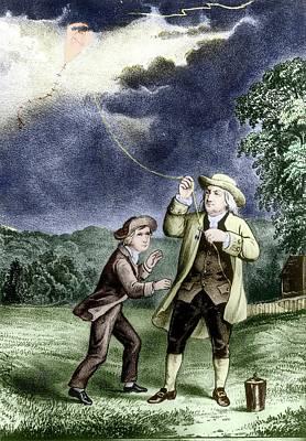 Franklin's Lightning Experiment Art Print