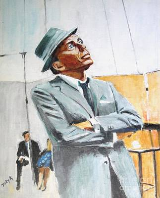 Frank Sinatra Painting - Frankly Speaking by Judy Kay