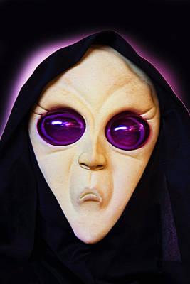 Franks Spooky Face Art Print by Linda Phelps