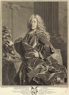 François Chereau I After Hyacinthe Rigaud French Art Print