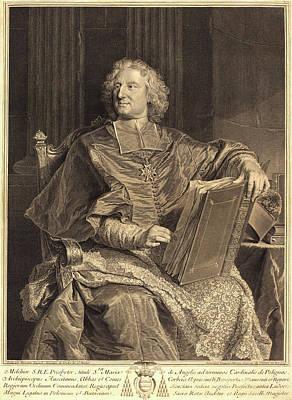 François Chereau I After Hyacinthe Rigaud Art Print